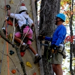 Climbing wall at River Riders, Harpers Ferry, WV