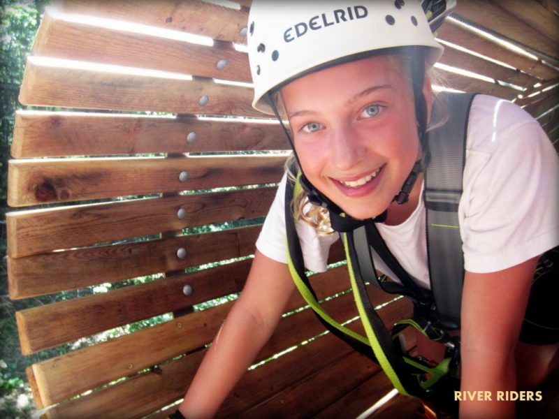 Tunnel at aerial adventure park