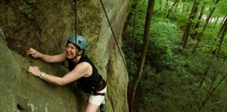 Climbing near New River Gorge Bridge