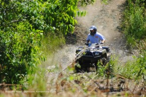 ATV on rocky trail at Burning Rock Outdoor Adventure Park, Sophia, WV, Hatfield & McCoy Region