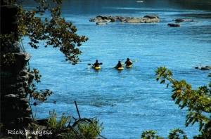 Paddlers on Shenandoah River, Eastern Panhandle Region