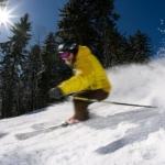 Skier at Snowshoe Mountain, West Virginia