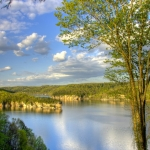 Summersville Lake in spring, Summersville Lake Wildlife Management Area, Nicholas County