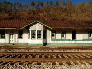Train Station at Oakvale, West Virginia, Mercer County, Bluestone Region