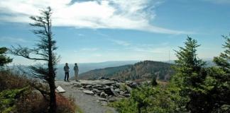 Photographers on Whispering Spruce Trail, Monongahela National Forest, Allegheny Highlands Region