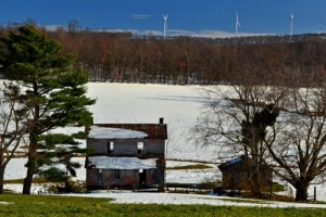 Wind turbines in Allegheny Highlands Region