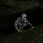 Young caver at Stillhouse Cave near Sinks of Gandy, Osceola, WV, Randolph County, Caving in Allegheny Highlands Region