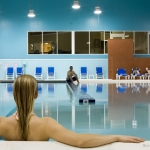 Bathers at indoor pool at Glade Springs Resort, Daniels, WV, New River Gorge Region