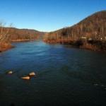 Cheat River at Albright, WV, Preston County, Monongahela Valley Region