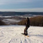 Snowboarders at Timberline Resort, Canaan Valley, Tucker County, Allegheny Highlands Region