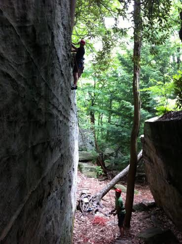"Climbing ""Mister Clean"" at Coopers Rock"