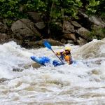 Kayaker navigates Gauley River whitewater