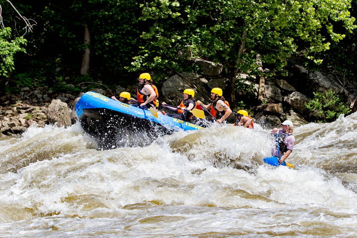 Team of rafters rides wave on Gauley