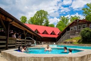Guests enjoy a soak at River Expeditions