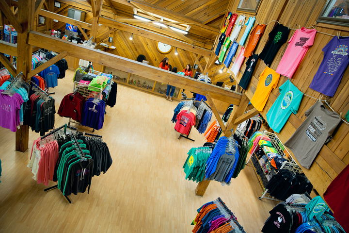 Gear, souvenir clothing at River Expeditions lodge