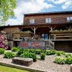 Welcoming lodge at River Expeditions, Fayetteville, New River Gorge Region