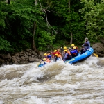 Rafters mount a wave on Gauley River