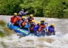 Rafters plunge into a West Virginia rapid