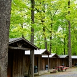 Cabins welcome rafters at River Expeditions, Fayetteville, New River Gorge Region