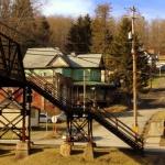 Footbridge at Tunnelton, WV, Preston County, Monongahela Valley Region
