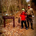 Anglers on Glade Creek Trail, Raleigh County, New River Gorge National River