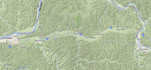Google map showing Teays Valley, Metro Valley Region, West Virginia