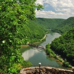 Main Overlook at Hawks Nest State Park, Ansted, West Virginia, Fayette County, New River Gorge Region