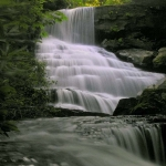 Tiered falls on Laurel Creek, Fayette County, New River Gorge Region