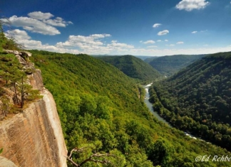 New River from Thunder Buttress, Fayette County, New River Gorge Region