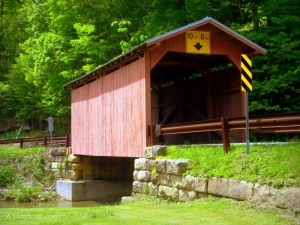 Fish Creek Covered Bridge near Hundred, Wetzel County, Northern Panhandle Region