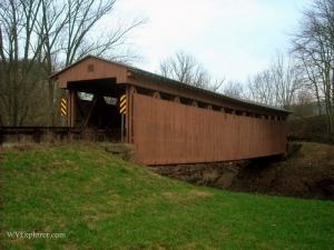 Sarvis Fork Covered Bridge, Sandyville, Jackson County, Mid-Ohio Valley Region