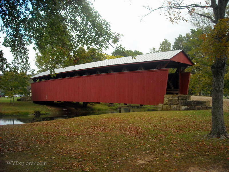 Barrackville Covered Bridge, Barrackville, Marion County, Monongahela Valley Region.