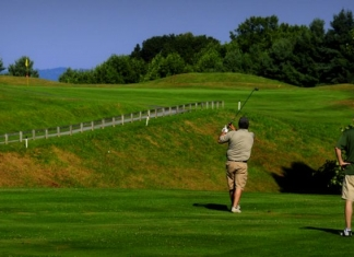 Golfers tee off at Pipestem Resort State Park