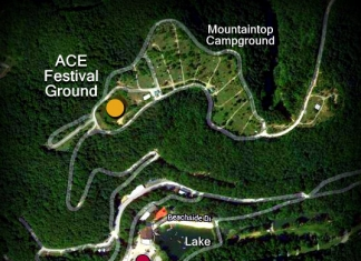 Map showing new ACE Festival Ground
