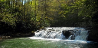 Lower Falls on Glade Creek