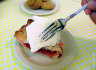 Rhubarb pie served at Capon Springs & Farms