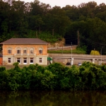 Rail station near Carriage Trail, Charleston, West Virginia