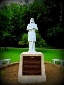 Statue of Logan at Chief Logan State Park, Logan County, Hatfield & McCoy Region