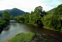 Guyandotte River at Logan, West Virginia, Logan County, Hatfield & McCoy Region