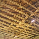 Interior of pavilion roof at Blue Sulphur Springs