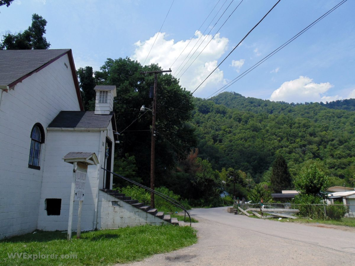 Mallory Hollow Road at Mallory, West Virginia, Logan County, Hatfield & McCoy Region