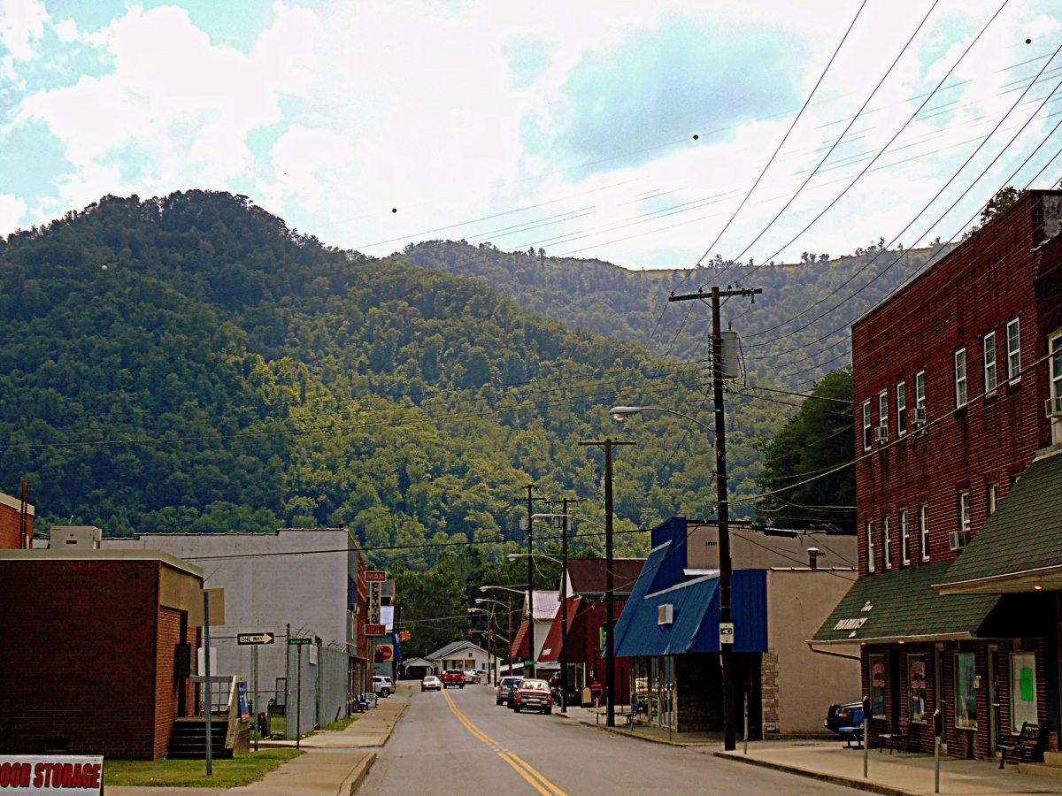 Main Street in Man, West Virginia, Logan County, Hatfield & McCoy Region