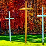Crosses near Affinity, West Virginia