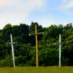 Coffindaffer's Crosses in pasture near Pluto, WV