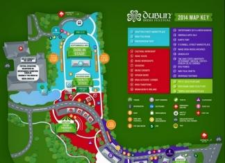 Map of Dublin Irish Festival 2014