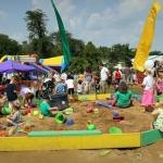 Children play in a sandbox, Dublin Irish Festival