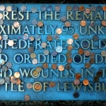 Pennies on Rebel Grave, Lewisburg, West Virginia, Greenbrier County, Greenbrier Valley Region