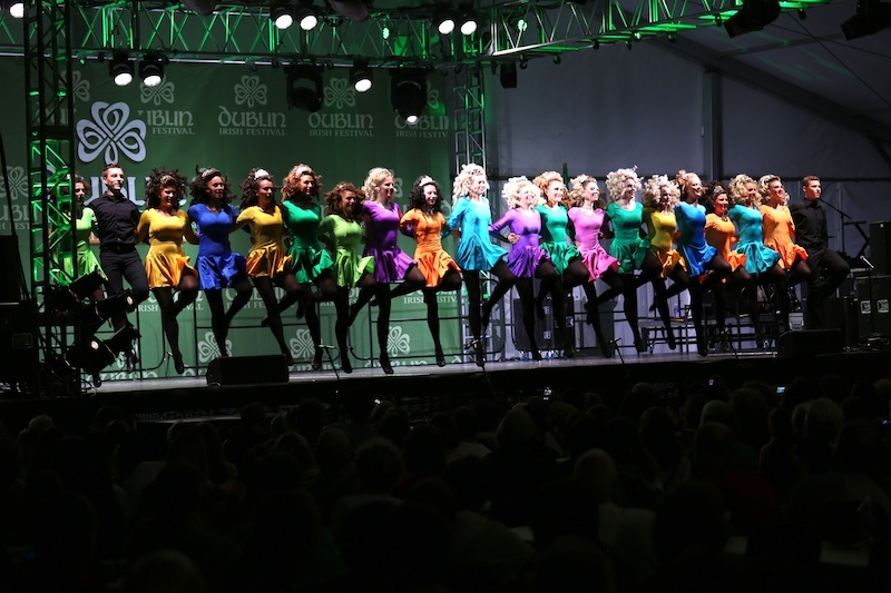 A rainbow of Dublin dancers
