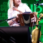 Sharon Shannon performs on accordian, Dublin Irish Festival 2014
