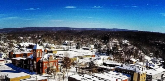 """""""Fayetteville in Winter"""" by Tim Naylor"""